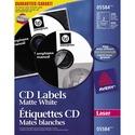 Avery® CD/DVD Label - Permanent Adhesive - Laser - White - 200 / Box