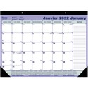 """Blueline Perforated Monthly Desk Pad Calendar - Monthly - January 2022 till December 2022 - 21 1/4"""" x 16"""" Sheet Size - Desk Pad - Bilingual, Notepad, Reference Calendar, Perforated, Tear-off, Non-refillable - 1 Each"""