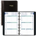 "Blueline Wirebound Hourly Appointment Planner - Weekly - January 2020 till December 2020 - 7:00 AM to 6:00 PM - 5"" x 8"" Sheet Size - Twin Wire - Black - Bilingual, Reference Calendar, Address Directory, Phone Directory, Index Sheet, Tabbed, Tear-off - 1 E"