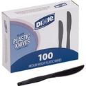 Dixie® Black Medium Weight Polystyrene Knives