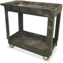 "Rubbermaid 2 Shelf Utility Cart with 5"" TPR Casters"