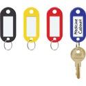 """Steelmaster Assorted Key Tags - 2"""" (50.80 mm) x 0.90"""" (22.86 mm) x 0.20"""" (5.08 mm) x - Plastic, Metal - 20 / Pack - Assorted"""