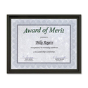 "First Base Recognition Certificate Frame - 9.50"" x 12"" Frame Size - Holds 8.50"" x 11"" Insert - Desktop - Horizontal, Vertical - 1 Each - Milano Black"