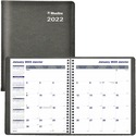 "Blueline Net Zero Carbon Monthly Planner - Julian Dates - Monthly, Daily - December 2019 till January 2021 - 1 Month Single Page Layout - Twin Wire - Black - 9.3"" Height x 7.3"" Width - Soft Cover, Flexible Cover, Eco-friendly, Bilingual - 1 Each"
