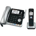 AT&T Connect to Cell TL86103 DECT 6.0 Cordless Phone - Silver Black - Corded/Cordless - Corded/Cordless - 2 x Phone Line - Speakerphone - Answering Machine