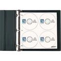 "C-Line CD/DVD Pages Ring Binder Kit - 11.5"" Height x 2"" Width x 12.4"" Depth - 80 x CD/DVD Capacity - Ring Binder - Black - Polypropylene - 1 / Each"