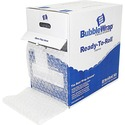 """Sealed Air Bubble Wrap Multi-purpose Material - 12"""" (304.80 mm) Width x 100 ft (30480 mm) Length - 312.5 mil (7.9 mm) Thickness - 1 Wrap(s) - Lightweight, Perforated - Clear"""