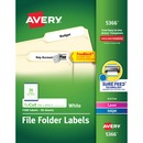 "Avery® File Folder Labels, 2/3"" x 3-7/16"" , 1,500 White Labels (5366)"
