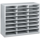 Fellowes Literature Organizer - 24 Compartment Sorter, Dove Gray