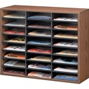 Fellowes Literature Organizer - 24 Compartment Sorter, Medium Oak