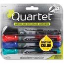 Quartet® EnduraGlide® Dry-Erase Markers, Fine Tip, Assorted Colors, 4 Pack