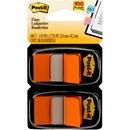 "Post-it® Flags, 1"" Wide, Orange 2-pack"