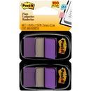 "Post-it® Flags, 1"" Wide, Purple 2-pack"