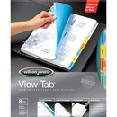 Wilson Jones® View-Tab® Transparent Dividers, 8-Tab Set, Multicolor Square Tabs