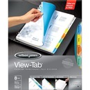 Wilson Jones® View-Tab® Transparent Dividers, 8-Tab Set, Square Multicolor, 5 Pack