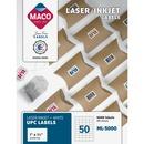 MACO Laser/Ink Jet White UPC Labels