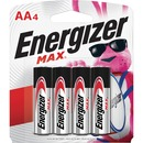 Energizer MAX Alkaline AA Batteries, 4 Pack