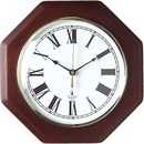 Chicago Lighthouse Octagon Mahogany Frame Clock