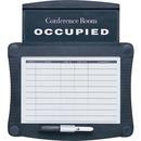 "Quartet® Conference Room Scheduler, 15 1/2"" x 14 1/4"", Dry-Erase, Graphite"