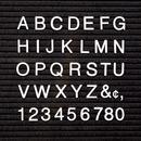 """Quartet® Characters for Felt Letter Boards, 1"""", White, Helvetica, 300/Set"""