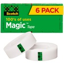 """Scotch® Magic™ Tape, 3/4"""" x 1,296"""", 6 Boxes/Pack, 1"""" Core"""