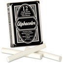 "Alphacolor® Chalk Sticks, Premium White, 3/8"" Diameter, 12/Box"