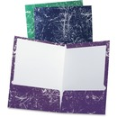 TOPS Oxford Marble Laminated Twin Pocket Folders
