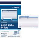 TOPS Avoid Verbal Orders Book