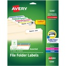 Avery® TrueBloc Permanent File Folder Labels with Sure Feed