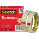 "Scotch® Transparent Tape, 3/4"" x 2592"""