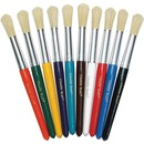 Creativity Street Round Natural Bristle Brushes