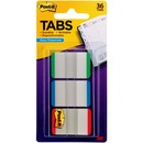 """Post-it® Durable Tabs, 1"""" x 1.5"""", Green/Blue/Red"""