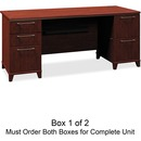 Bush Business Furniture Enterprise 72W Double Pedestal Desk Box 1 of 2