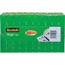 "Scotch® Magic™ Tape, 3/4"" x 1000"", 20 rolls/pack, 6 packs/cs, 1"" Core"