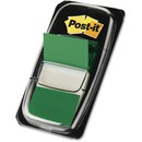 "Post-it® Flags, 1"" Wide, Green, On-the-Go Dispenser"