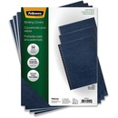 Fellowes Expressions™ Grain Presentation Covers - Letter, Navy, 50 pack