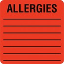 Tabbies Square ALLERGIES Labels