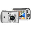 GE A1255 12.2 Megapixel Compact Camera - Silver - 2.7