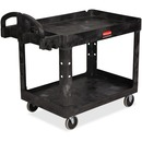 Rubbermaid Commercial Medium Utility Cart with Lipped Shelf