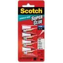 Scotch® Super Glue Liquid, 4-Pack of single-use tubes, .017 oz each