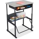 Safco AlphaBetter Desk, 28 x 20 Standard Top with Book Box