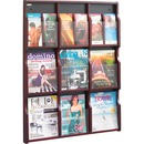 Safco 9 Magazine/18 Pamphlet Wood Literature Rack