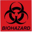 "Rubbermaid Commercial 6"" Square Biohazard Label"