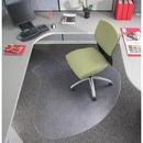 Deflecto DuraMat L-Shaped Medium Pile Chair Mat With Lip