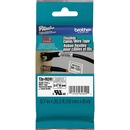 """Brother 3/4"""" Black on White Flexible ID Tape"""