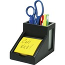 Victor 9505-5 Midnight Black Pencil Cup with Note Holder