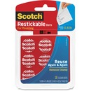 Scotch Restickable Clear Mounting Tabs