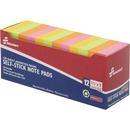 SKILCRAFT Self-Stick Neon Note Pads