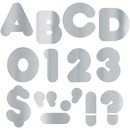 "Trend Metallic Casual Uppercase 4"" Ready Letters"
