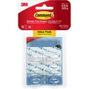 Command™ Mini Clear Hooks with Clear Strips